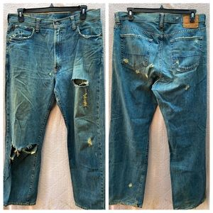 Abercrombie & Fitch 5 Pocket Destroyed Jeans